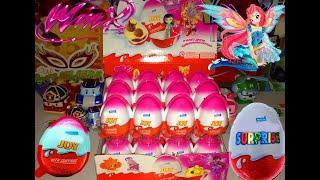 getlinkyoutube.com-Киндер Сюрпризы,Unboxing Kinder Surprise Eggs Игрушки для детей Феи Клуб Винкс,Toys Club Winx