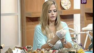 getlinkyoutube.com-خبيرة الأشغال اليدوية فاي سابا تزين أكياس الخيش | Ro'ya