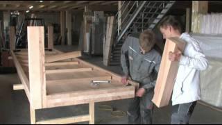 getlinkyoutube.com-Herstellung eines 5 Meter langen Massivholztisches bei MÖBEL EINS