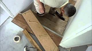 getlinkyoutube.com-Laminate Flooring on Stairs: How-to Start Installation Use Stair Jig DIY Tips Mryoucandoityourself