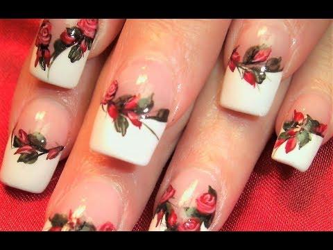Nail Art Designs - Red Roses DIY Tutorial