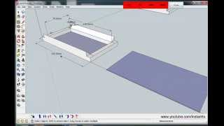 create 3D model in Sketchup, Part 1. then import in to artcam