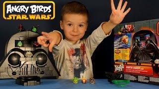 getlinkyoutube.com-Игрушки Энгри Бёрдс Стар Варс 2 на русском. Angry Birds Star Wars Jenga Darth Vader