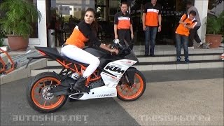 getlinkyoutube.com-2015 KTM RC390 media short test ride