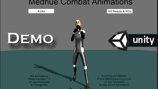 getlinkyoutube.com-Medhue Combat Animations for Unity3D
