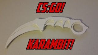 getlinkyoutube.com-Paper CS:GO Karambit