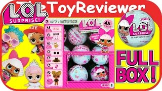 L.O.L Little Outrageous Littles Surprise Dolls LOL Full Case Box Unboxing Toy Review TheToyReviewer