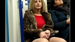 getlinkyoutube.com-Girls check out guys crotch bulge on train2