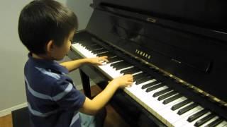 getlinkyoutube.com-Alex (6) plays piano Angry Birds Theme Song