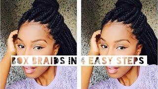 getlinkyoutube.com-Box Braids in 4 Easy Steps