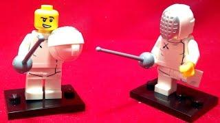 getlinkyoutube.com-레고 펜싱 선수 미니피규어 시즌 13 조립 리뷰 Lego 71008 Minifigures Series 13 Fencer