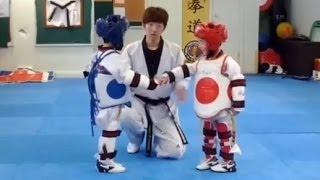 Taekwondo Cute Fight Ever width=