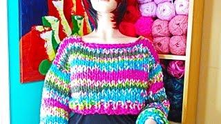 getlinkyoutube.com-Como tejer abrigo corto  para adulto a dos agujas   con Ruby Stedman