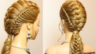 getlinkyoutube.com-Hairstyles for long medium hair with braids tutorial