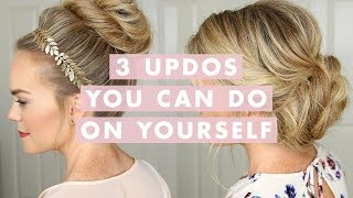 getlinkyoutube.com-3 Stunning Updos That You Can Do On Yourself! | Hair Tutorial