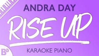 Rise Up (Lower Key of Bb) [Piano Karaoke Instrumental] Andra Day