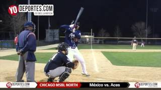 Mexico pierde con Aces en Chicago North Men's Senior Baseball League