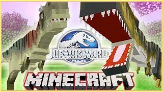 getlinkyoutube.com-Minecraft Jurassic World Mod T-REX VS CARNOTAURUS!