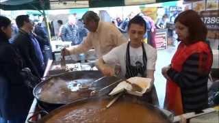 getlinkyoutube.com-Fresh Tandoori Clay Oven Naan wraps at Indian Seasoning Street Food stall - Alchemy Festival, London