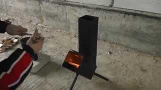 getlinkyoutube.com-Ракетная печь для отдыха (испытание)