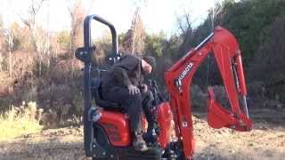 getlinkyoutube.com-A look and a tryout of the new Kubota 008 mini excavator