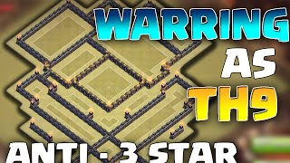 "getlinkyoutube.com-THANKS FOR 1K! Clash of Clans - INSANE TH9 War base + REPLAYS! ""Best ANTI - 3 STAR Base!"""
