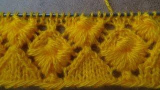 getlinkyoutube.com-Узор спицами - РАКУШКА. knitting patterns