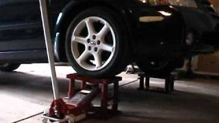getlinkyoutube.com-My Lift Stand - Great idea for lifting a car
