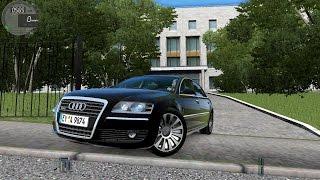 getlinkyoutube.com-City Car Driving 1.5.3 Audi A8  Autobahn | Street Racing [G27]