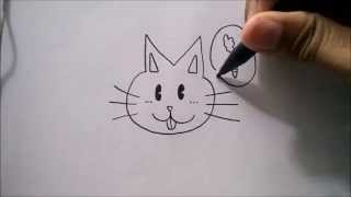 "getlinkyoutube.com-CARA MENGGAMBAR WAJAH KELINCI DARI HURUF ""M"" 