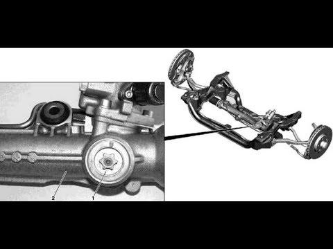 Регулировка люфта рулевой рейки Mercedes-Benz W211