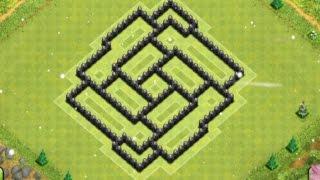 getlinkyoutube.com-Diseño de aldea ayuntamiento 7 (ANTIFARMING) -TH7 Farming Base