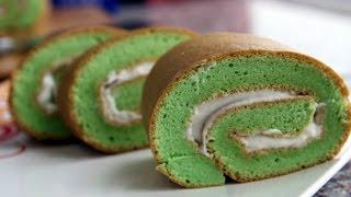 getlinkyoutube.com-PANDAN ROLL CAKE - Bánh cuộn lá dứa