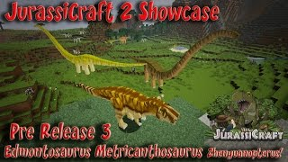 getlinkyoutube.com-JurassiCraft 2.0 Showcase Pre Release 3 Dinosaurs & Flying Reptiles Velociraptor Growth T REX Death