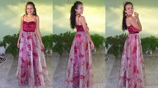 getlinkyoutube.com-Costurando vestido drapeado de Madrinha Alana Santos Blogger
