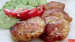 getlinkyoutube.com-How to make Chicken Patties - tasty healthy recipe - Home made Kip burgers - chicken kebabs