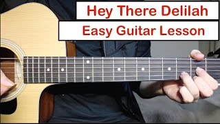 Hey There Delilah - Plain White T's | Guitar Lesson (Tutorial) How to play Chords & Melody