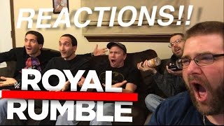 GRIMS WWE ROYAL RUMBLE 2017 REACTIONS!