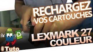 getlinkyoutube.com-Lexmark 27 Cartouche Couleur : Comment Bien Recharger La cartouche
