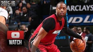 getlinkyoutube.com-Dwyane Wade Full Highlights at Nets (2016.01.26) - 27 Pts, 8 Ast, BEAST!