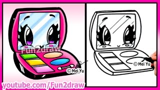 getlinkyoutube.com-Cute Makeup - How to Draw Easy - Cosmetics and Makeup Tutorial Fun2draw Cartoon Art Lesson