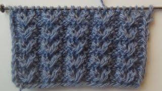 getlinkyoutube.com-Узор спицами №3 АЖУРНЫЕ ГУСИНЫЕ ЛАПКИ. Knitting pattern