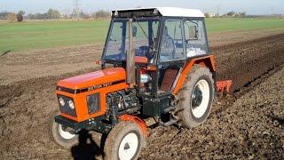 getlinkyoutube.com-Rolnik Szuka... Traktora / Prace Polowe - Zetor 7211 + Pług 3 skibowy / Agregat uprawowy / Gruber