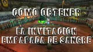 Blood Soaked Invitation Item World Of Warcraft