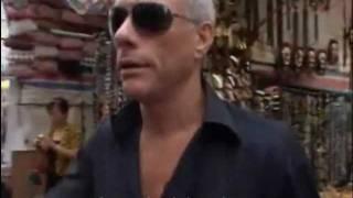 getlinkyoutube.com-Van Damme, 50 years old - Precision Kick on the street of Hong Kong (2010)