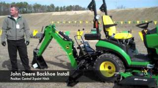 getlinkyoutube.com-John Deere Front Loader and Backhoe Attachment Demonstration