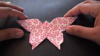 getlinkyoutube.com-Origami Daily - 201: Lovely Butterfly - TCGames [HD]
