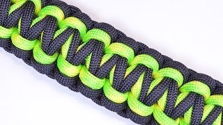 "getlinkyoutube.com-Make the ""Gorilla Knot"" Paracord Survival Bracelet - DIY - BoredParacord"