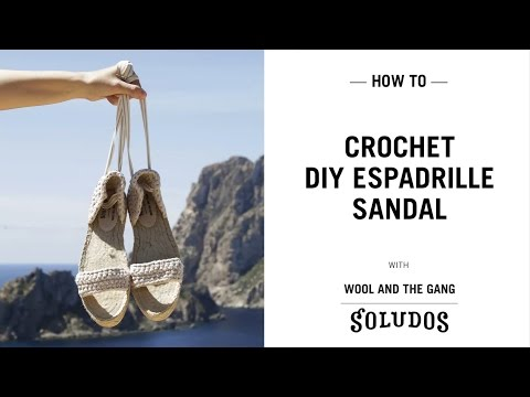 DIY shoes! Copacabana Espadrille Sandal tutorial Wool and the Gang x Soludos