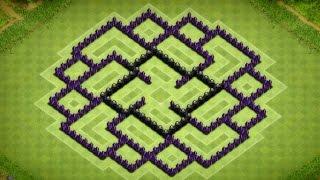 getlinkyoutube.com-كلاش اوف كلانس : تصميم قريه تاون هول لفل 8 [ سرعة تصميم ]